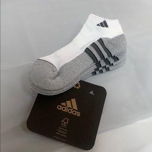 Adidas socks 3 pair White Gray